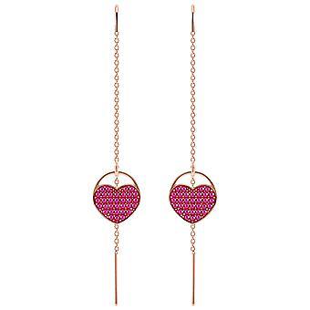 Swarovski Ginger Pierced Earrings - Pink - Rose Gold Plating