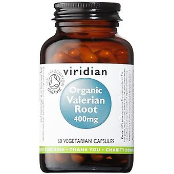 Viridian Organic Valerian Root 400mg Veg Caps 60 (971)