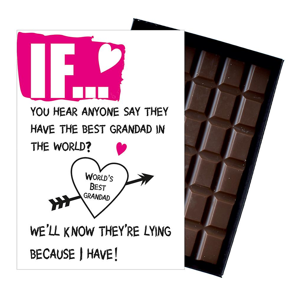 Fathers Day Gift For Grandad Funny Boxed Chocolate For Grandfather Grampy IF112