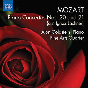Mozart / Goldstein / Fine Arts Quartet / Calin - pianokonserter nr. 20 & 21 [DVD] USA import