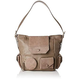 Liebeskind Berlin HoboM - CaPoES Brown Woman Shoulder Bag (Brown (cold grey 9408)) 21x27x37 cm (B x H x T)