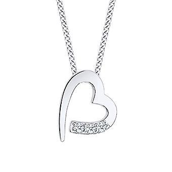 Diamore Silver Pendant Necklace 925 with White Diamond 0 -06ct - Brilliant Cut - 45 cm