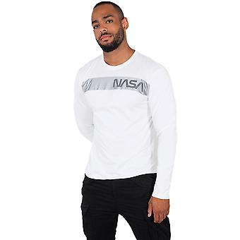 Alpha Industries Men's Long Sleeve Shirt NASA RS