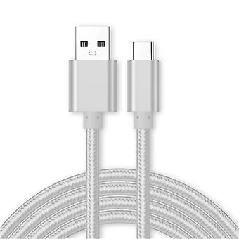 Kit Me Out USB Type C, 3.1 Amp USB C Fast Charge Nylon Braided Cable Compatible with Motorola One, Charging Data Sync Cable Lead Cord