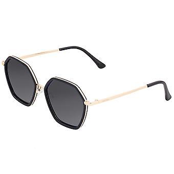 Bertha Ariana Polarized Sunglasses - Black/Black