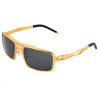 Breed Orpheus Aluminum Polarized Sunglasses - Gold/Black