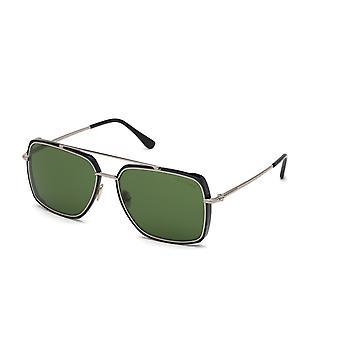 Tom Ford TF750 01N Shiny Black/Green Sunglasses