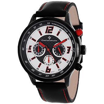 Christian Van Sant Men's Speedway Silver/Red Dial Uhr - CV3122