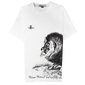Vivienne Westwood Anglomania Leeuw print T-shirt wit 100