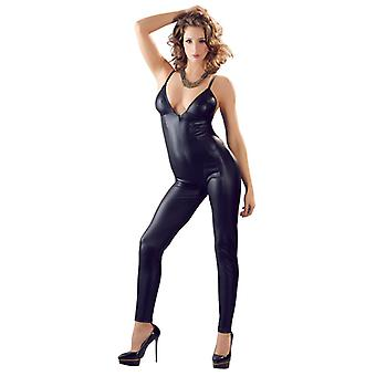 Wet Look Catsuit con zip lunga