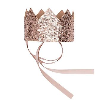 Billy loves audrey, crown gold sequin