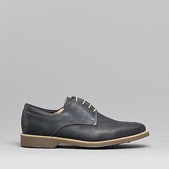 Anatomic & Co. Delta Mens Leather Derby Shoes Navy