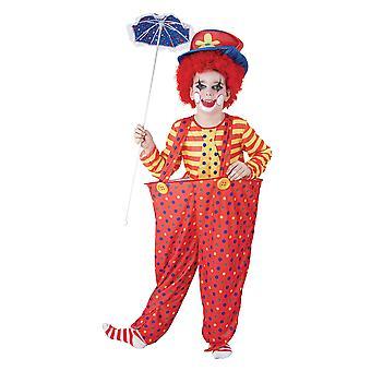 Boys Hoop Clown Fancy Dress Costume