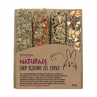 Rosewood Naturals Small Animal Four Seasons Stick Treats (Pack of 4)