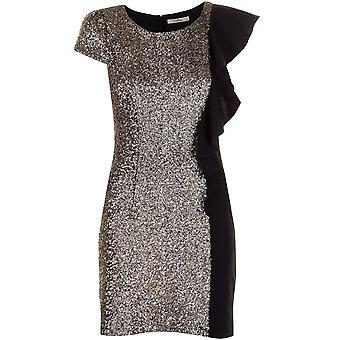 Darling Women's Gold Black Celeste Pencil Dress