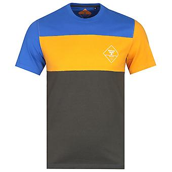 Barbour Beacon Block Stripe Slim Fit Orange, Blue & Green T-Shirt