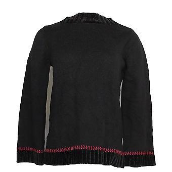 Denim et Cie. Femmes -apos;s Sweater Bell-Sleeve Noir A345352