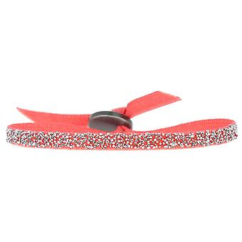 Les Interchangeable pulsera A49637 - FABRIC Coral Clear Crystal Women