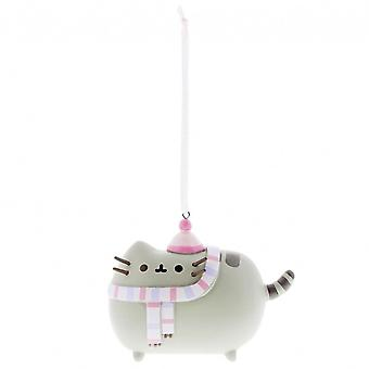 Enesco Pusheen winter ornament