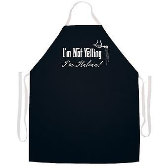 I'm Not Yelling Italian apron
