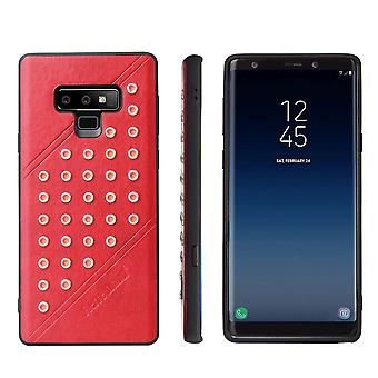 For Samsung Galaxy Note 9 Sag, Modish Læder Mobiltelefon Fashionable Cover, Rød