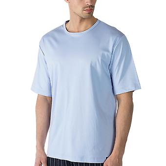 Mey Men 20430-188 Men's Lounge Blue Cotton Pyjama Top