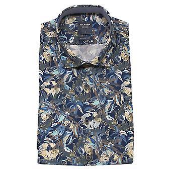 OLYMP Olymp Blue Shirt 4004 52 22