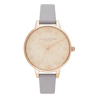 Olivia Burton Watches Ob16gd45 Glitter Dial Grey Lilac & Pale Rose Gold Ladies Watch