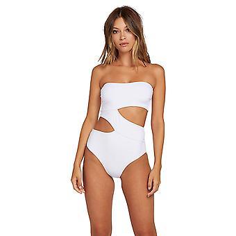 Volcom Junior's Women's Plus Size Simply Seamless One Piece Swimsuit, White, ...