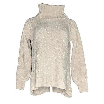 Anybody Women's Sweater Chenille Cowl Neck White A379467