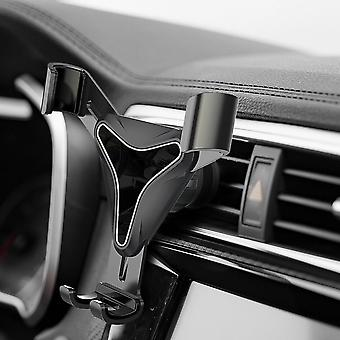 Universal gravity automatical lock multi-angle rotation car mount air vent holder for mobile phone