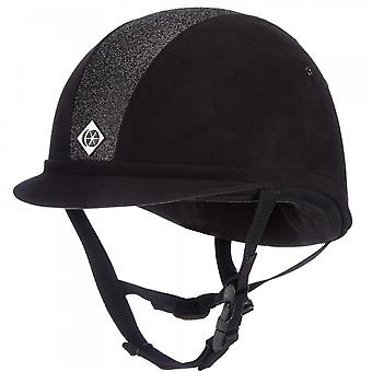 Charles Owen Yr8 Riding Hat - Black/black Sparkle
