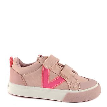 Victoria Shoes Kid's Tribe Rosa Fluo Strap Trainer