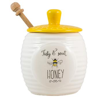 English Tableware Co. Bee Happy Honey Pot