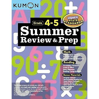 Summer Review & Prep - 4-5 by Publishing Kumon - 9781941082645 Book