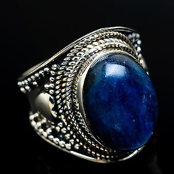 Kyanite Ring Size 6 (925 Sterling Silver)  - Handmade Boho Vintage Jewelry RING7695