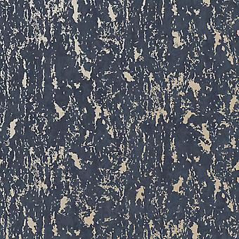 Superfresco Milan Wallpaper Navy / Pale Gold Graham and Brown 107970