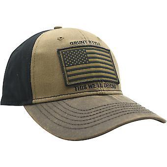 Grunt Stil Veteran Flagge Hut - braun