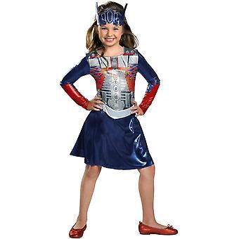 Optimus Prime transformeras Girl kostym