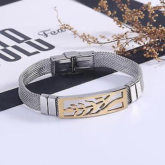 Handgefertigte Stahl Armband für Männer cool Baum