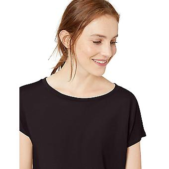 Daily Ritual Women's Supersoft Terry Dolman-Sleeve, Black, Size X-Small