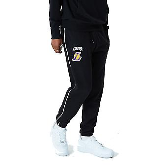New Era Los Angeles Lakers NBA Stripe Piping Track Trousers in Black