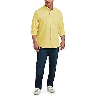 Essentials Mænd & s Big & Tall langærmet Pocket Oxford Shirt passer ved DXL ...