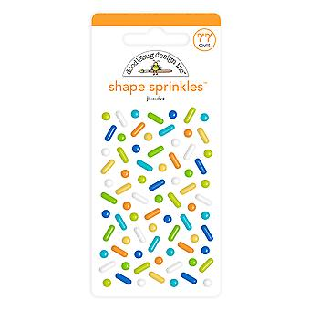 Doodlebug Design Jimmies Shape Sprinkles (77pcs) (6626)