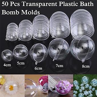 Bath Bomb Mold Clear - Round Ball Sphere Plastikowe wypełnienie do kąpieli Bomb Mold Mould Plastic