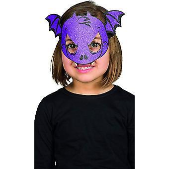 Glitter naamio bat lapsi halloween silmä naamio violetti batwings glitter