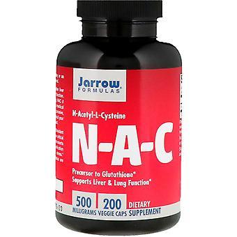Formules Jarrow, N-A-C N-Acétyl-L-Cystéine, 500 mg, 200 Bonnets végétariens