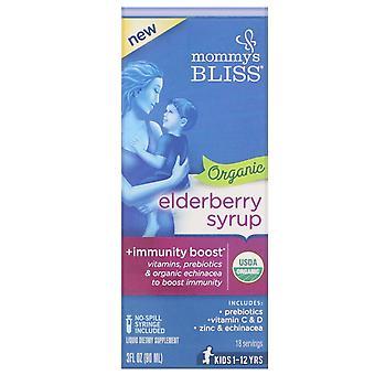 Mommy's Bliss, Organic Elderberry Syrup + Immunity Boost, 3 fl oz (90 ml)