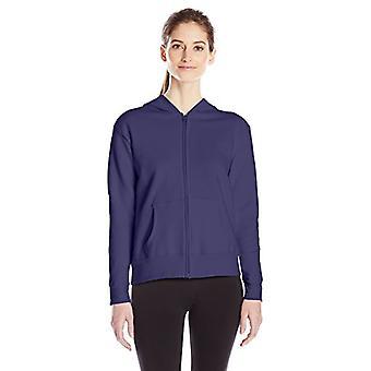 Hanes Women's Full Zip Hood, Navy, Small