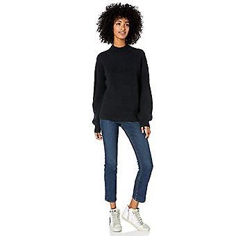 Merkki - Goodthreads Women's Boucle Shaker Stitch Balloon-Sleeve Sweater, Musta , XX-Large